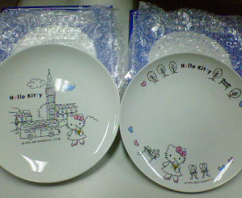 ハローキティ絵皿。