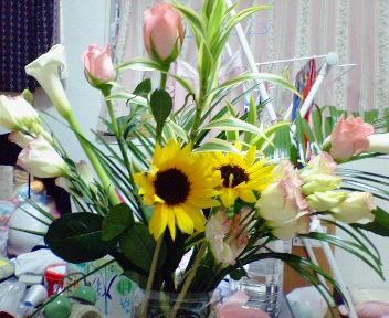 花束もらった。